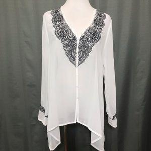 Karen Kane chiffon blouse